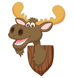 Moose head cartoon vector