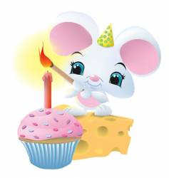 Mouseandcupcake vector