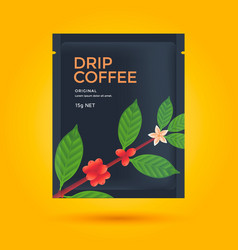 Packaging design for coffee vector