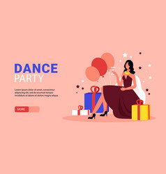 Party horizontal banner vector