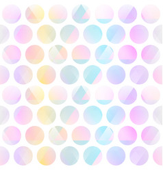 pastel color circle seamless pattern vector image