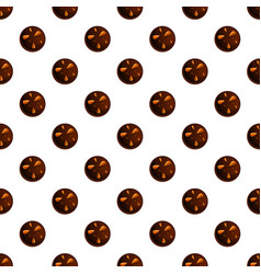 peanut choco biscuit pattern seamless vector image