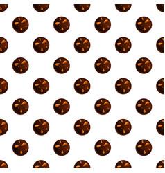 Peanut choco biscuit pattern seamless vector