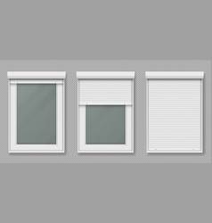 Plastic window with white rolling shutter vector