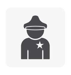 police icon black vector image