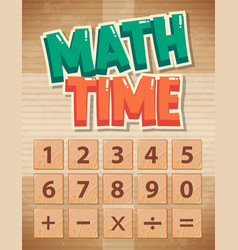 Poster design for math with numbers and sign vector