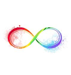 rainbow symbol infinity vector image