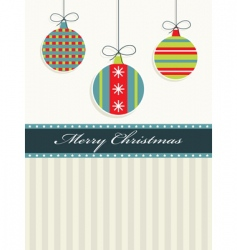red blue and green Christmas vector image