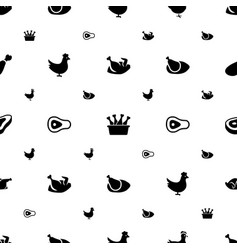 Roast icons pattern seamless white background vector