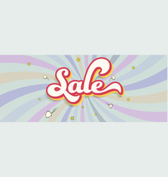 Sale text design over background with colored vector