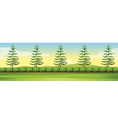 Scene with trees in the park vector image