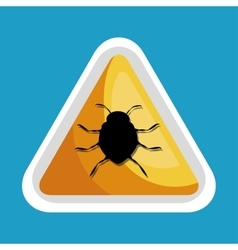 Security data alert virus icon design vector