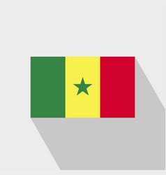 Senegal flag long shadow design vector