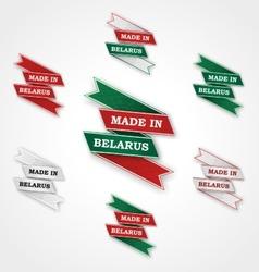 Set of labels badges Made in Belarus vector