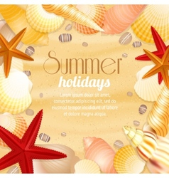 Summer holiday vacation travel poster vector image