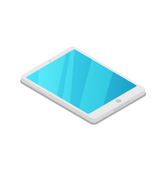 Tablet pc device isometric 3d icon vector
