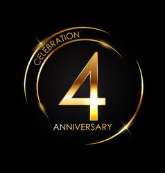 template 4 years anniversary vector image