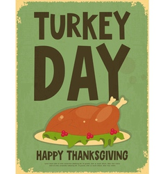 Thanksgiving Day Retro Poster vector image