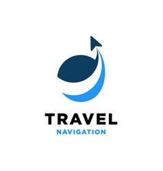 travel navigation logo design inspiration vector image