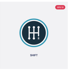 Two color shift icon from transport concept vector