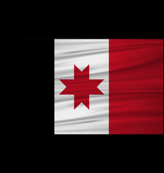 Udmurtia flag flag of udmurtia blowig in the vector