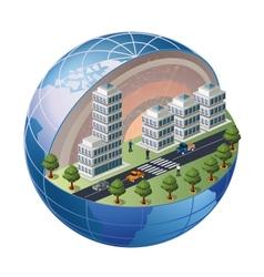 Urban district vector image