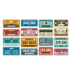 Usa license plate set vector