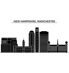 Usa new hampshire manchester architecture vector