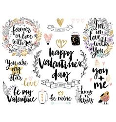 Valentines day calligraphic vector