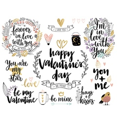 Valentines Day Callygraphic vector