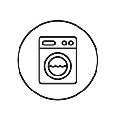 washing machine icon editable thin line vector image