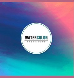 Watercolor template for your text vector