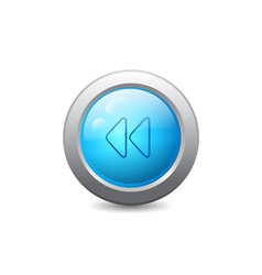 Web button with backward icon vector image