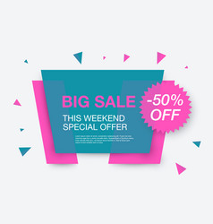 weekend sale banner special offer vector image