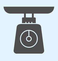 Weight scales solid icon domestic weighing scale vector