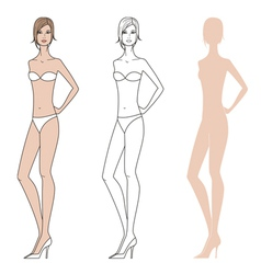 Woman fashion figure vector image
