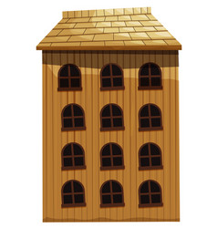 building made of wood vector image vector image