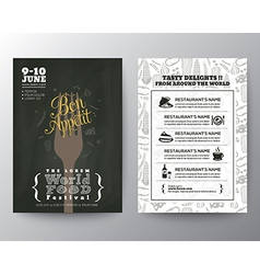 Food festival poster brochure flyer design layout vector