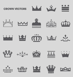 Set of crowns and tiaras vector image vector image