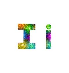 Set of letters firework I vector image vector image