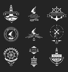 Set of yacht club logos vector image vector image