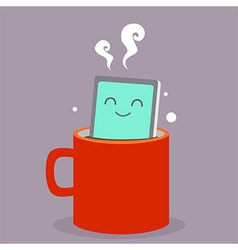 Smart Phone Coffee vector image