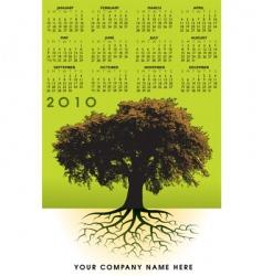 2010 trees roots calendar vector image