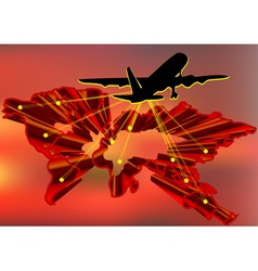 aircraft taking off vector image