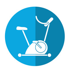 Bicycle static exercise training icon vector