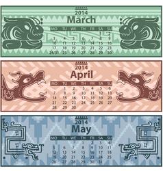 Calendar 2014 Spring vector image vector image