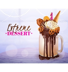 Extreme Dessert Blurred Light Background Poster vector image