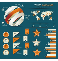 Retro infographics set vector image vector image