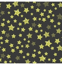 Set of Yellow Stars Seamless Starry Pattern vector image vector image