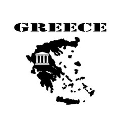 symbol of greece and maps vector image vector image